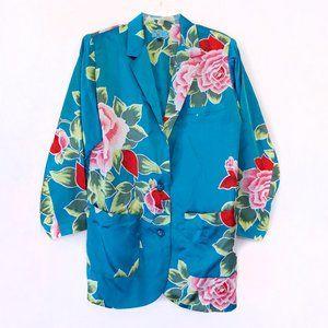 Vintage Kenzo Floral Print Blazer Jacket